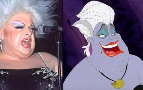 Моделью для ведьмы Урсулы из мультфильма «Русалочка» послужил трансвестит Divine.