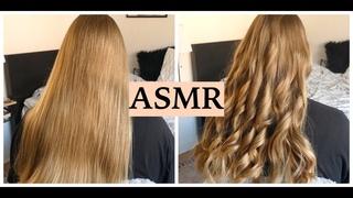 ASMR STYLING SUPER LONG & HEALTHY HAIR (Hair Play, Hair Brushing, Curling & Spraying, No Talking)