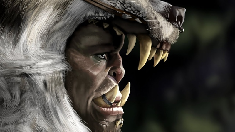 Warcraft Durotan GIMP Speed Painting
