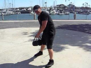 Killer kettlebell workout! X-baG training video swings chops  presses