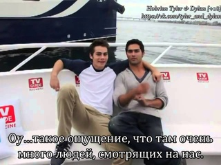 Dylan O'Brien and Tyler Hoechlin Get Freaky On Boat