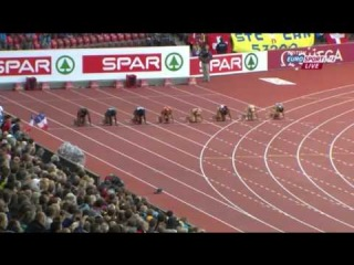 Women's 100m  Semifinal 3 European Athletics Championships Zurich 2014