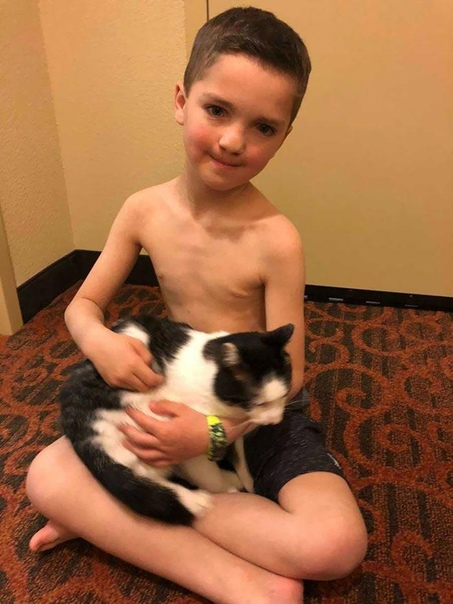 Мальчика с разными глазами и заячьей губой, которого унижали в школе, спасла кошка.
