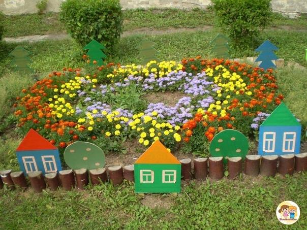 Оформление клумб в детском саду. Идеи.