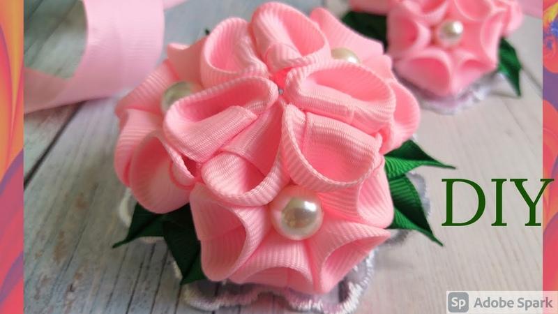 Пышные бантики легко и просто новинки канзаши 2020 МК DIY kanzashi Lush bows making bows