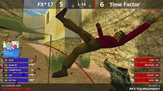 """Финал турнира по CS 1.6 от проекта """"RFX Tournament"""" [Time Factor -vs- FX*17] 1map @kn1fe TV"""