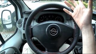 Как обшить руль кожей. За 3 ( ТРИ! ) доллара $$$ Что получилось? Opel Vivaro. Primastar. Reno Trafic