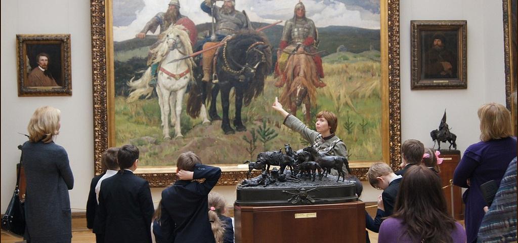 Картинки трех богатырей в музее