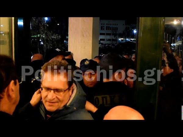 Επεισόδια στη Χίο με επίθεση στον Νότη Μηταράκη