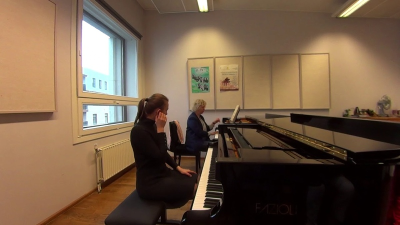 04 08 2019 Mira Marchenko and Lea Valiulina Master classes at the 'YOUNG MUSICIAN 2019' EAMT