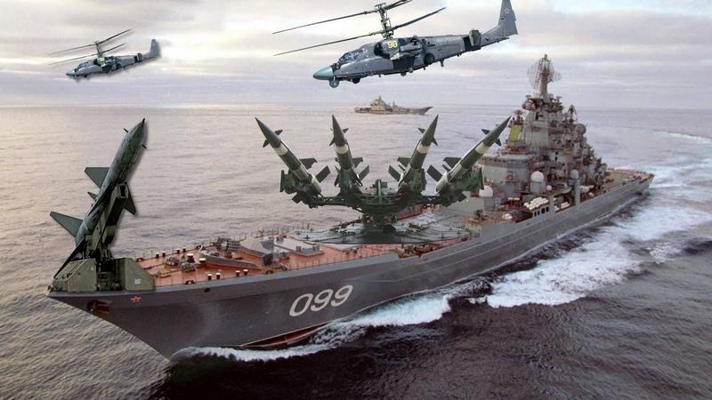 Самый мощный корабль в мире Адмирал Нахимов идет к берегам CШA