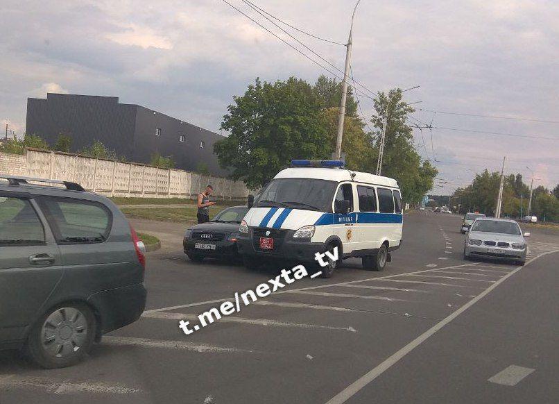 """На Гродненской произошло ДТП (вероятно) с участием автомобиля """"милиция"""""""