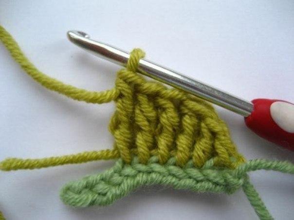 Как связать листок крючком