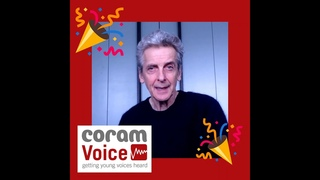 Voices 2021 writing competition announcement with Peter Capaldi