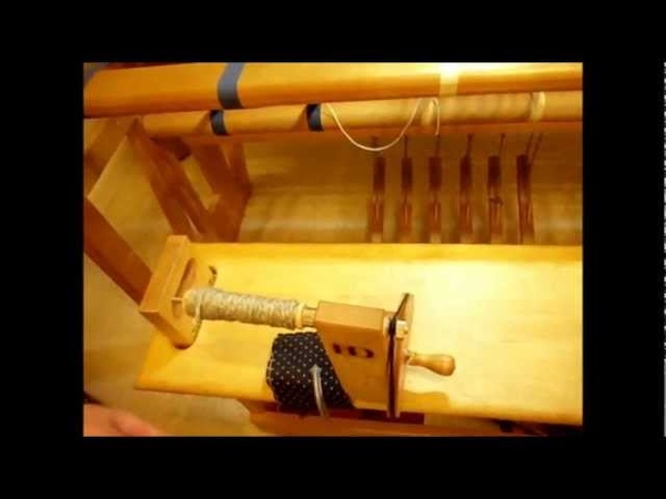 How to Weave on a Loom Video 15 Tying up the treadles