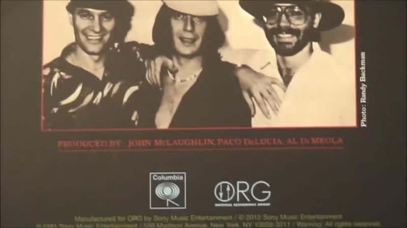 Al Di Meola John McLaughlin Paco de Lucía Friday Night in San Francisco Vinyl LP 45rpm ORG