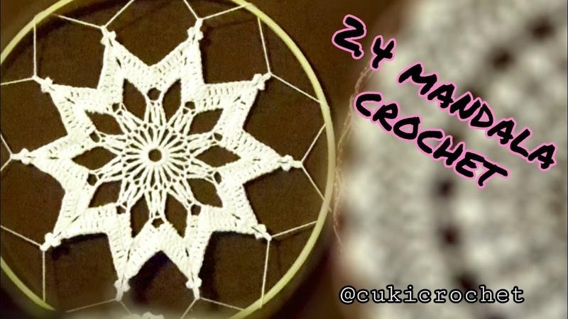 2.4. MANDALA Crochet. SEGUNDA TEMPORADA. DIAMETRO 25 cm.