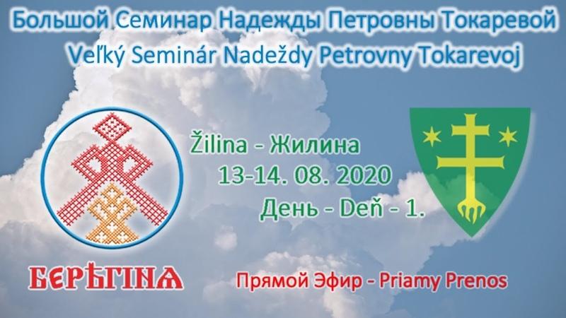 Надежда Токарева 13 14 09 2020 Д 1 Большой семинар Жилина Словакия Прямой Эфир