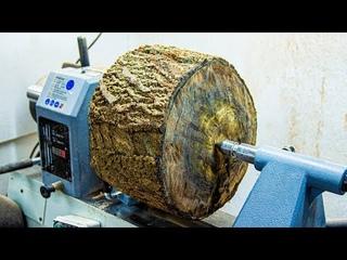 Woodturning - Dragon Bowl from End Grain Black Walnut