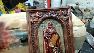 Как покрасить икону или панно из дерева