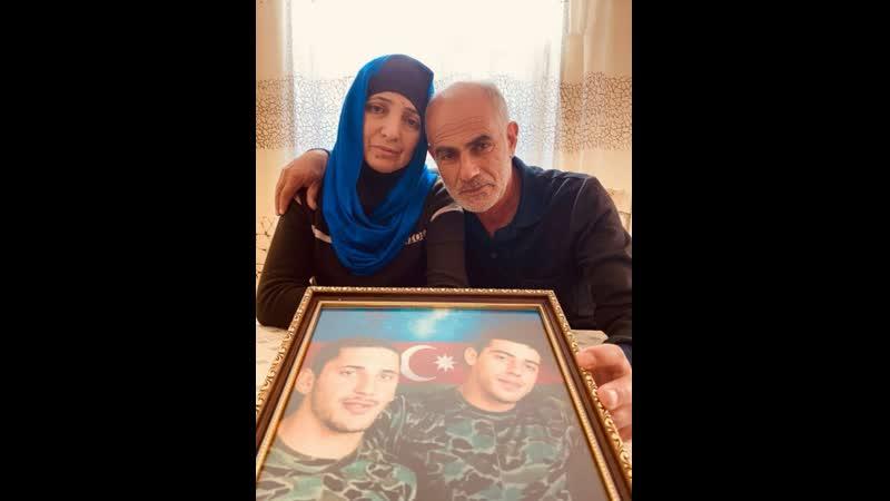 У родителей было двое сыновей Иман и Бахрам Оба погибли в боях за Карабах Азербайджан Армения Война Ереван Баку Алиев Пашинян