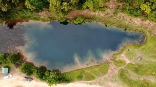Голубое озеро в Башкирии. Заброшенный виадук. Фотоохота на рыб, поймали крупную.