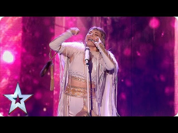 Beware of the WOLVES Olena Uutai opens the show in style with unique act Semi Finals BGT 2018