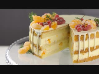 Вкуснейший ТОРТ С МАНДАРИНАМИ НА НОВЫЙ ГОД И РОЖДЕСТВО | Больше рецептов в группе Десертомания