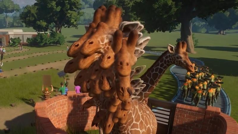 ДАВАЙ СЫГРАЕМ в Planet zoo Let's game it out на русском Жираф монстр