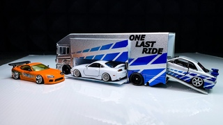 One Last Ride Transporter, Reminiscing Paul Walker. RMZ city, Hot Wheels, Tomica Premium custom