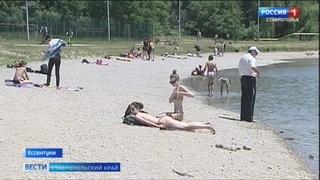 В Ессентуках любителей поплавать на озере не останавливает запрет