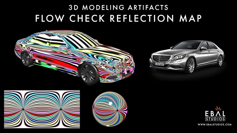 3D Modeling Artifacts Flow Check Reflection Map Tutorial