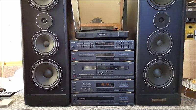 Kolumny Barcarola 200 Wieża Diora SSL502 audio test Unitra Tonsil