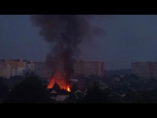 Пожар в Бобруйске ранним утром I Новости Бобруйска