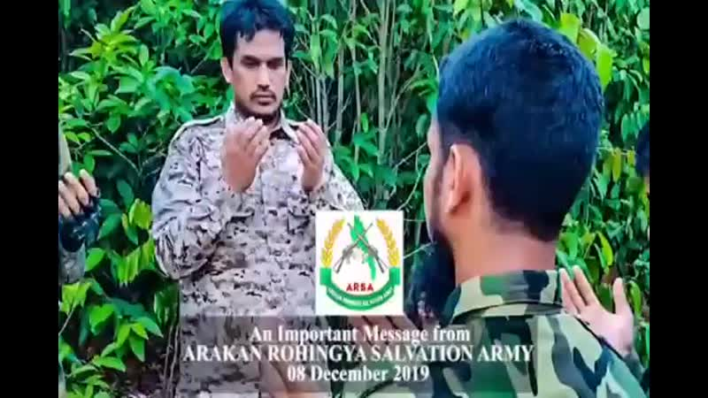 An Important Message from RAKAN ROHINGYA SALVATION ARMY 08 DECEMBER 2019 360p mp4