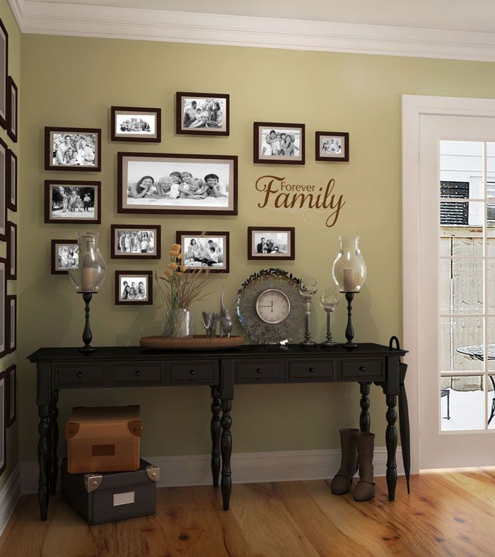 семейные фотографии в интерьере квартиры