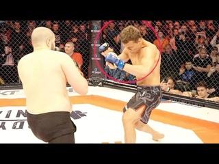 Бой Артём Тарасов vs Бритый Околофутбольщик! Нокаут за минуту. Полный бой
