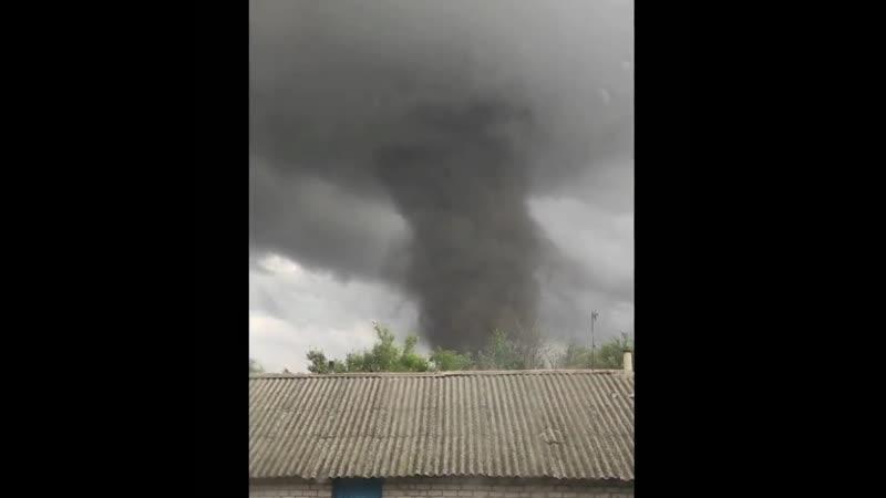 Массивный торнадо 27 сентября в Великой Александровке Херсонская обл Украина