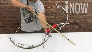 Potente Arco con ruedas de Bicicleta - Invento Casero Fácil
