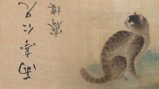 Кот и две бабочки. К завершению реставрации китайского свитка