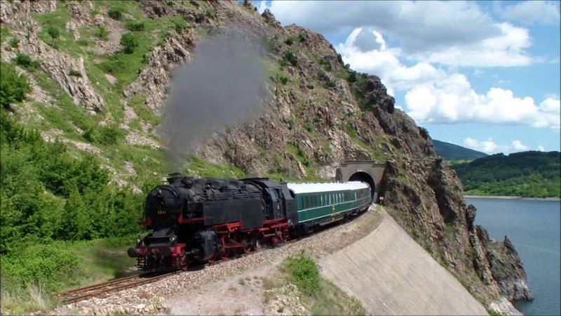 Атракционно пътуване, май 2016 г. Парни локомотиви 03.12, 16.27, 46.03 в Родопа планина.
