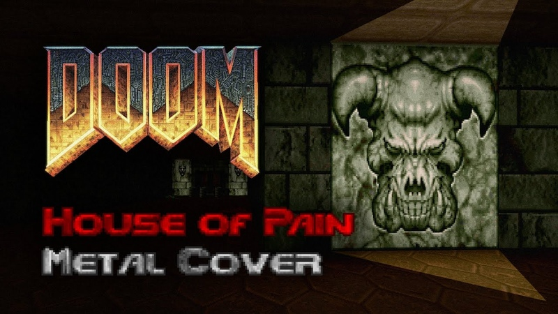 Doom E3M4 House of Pain Sign of Evil Metal Cover
