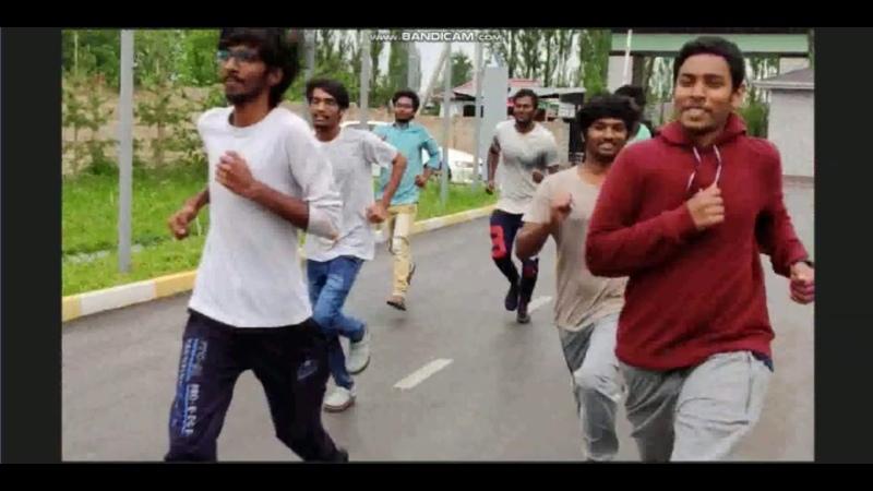 Иностранные студенты КГМА им И К Ахунбаева занимаются физической культурой в условиях карантина