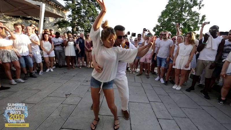 Korke Judith dancing bachata sensual during Summer Sensual Days Opatija 2019