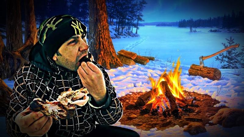 Оставил на ночь Жерлицы на Щуку и Донки на Налима Дикая Кухня на Огне Зимняя Рыбалка 2020