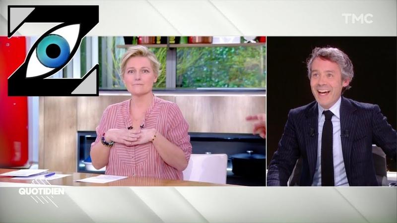 Zap Télé Se croyant hors antenne A E Lemoine se lâche dans Quotidien 07 04 20
