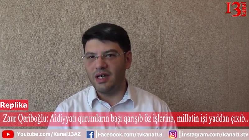 Məmurların başı qarışıb özlərinin şəxsi biznesini artırmağa Zaur Qəriboğlu