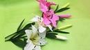 Hướng Dẫn Làm Hoa Ly Từ Giấy Nhún - Trang Trí Ngày Tết | BambooVN DIY