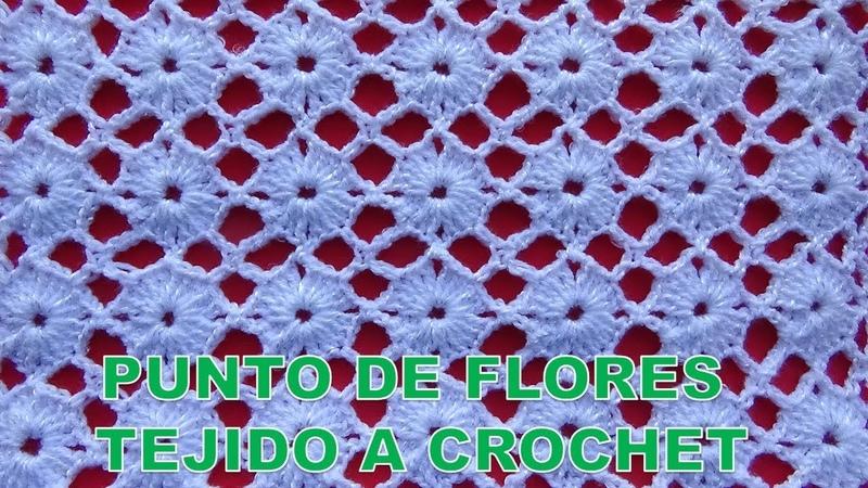 Punto de Flores tejido a crochet paso a paso para aplicar en Blusas, chalecos, vestidos