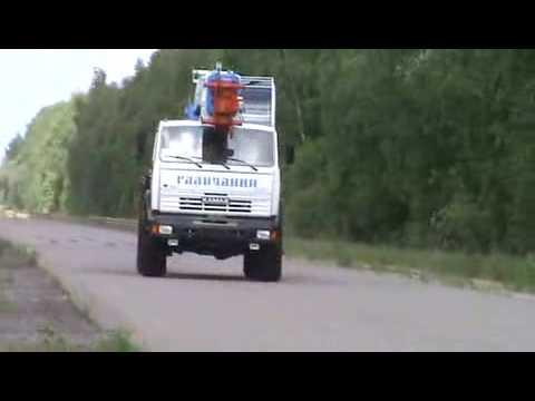Испытания Автокрана Галичанин КС 55713 5В